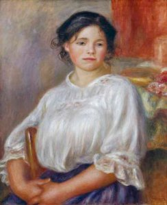A.Renoir, Sitzendes junges Maedchen - Renoir/Jeune fille/Helene Bellon/c.1909 - A.Renoir / Jeune fille assise v.1909