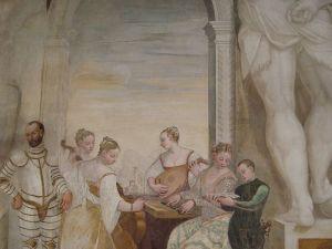 Affreschi di Antonio Fasolo nel salone di Villa Caldogno, Il concertino, 1570 ca.