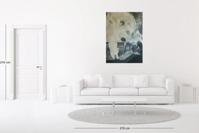 Lorenzo Di Lucido, Omissis, 2012, olio su tela, 140x100 cm, opera pubblicata in catalogo. Prezzo: 2.000,00 euro