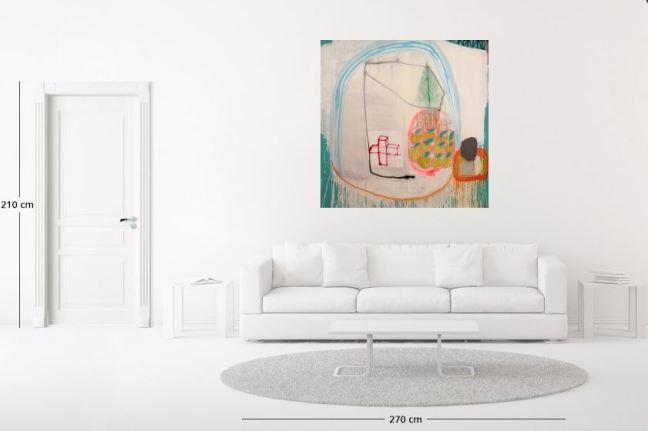 Marco Pariani, Duecentoventinove, 2014, tecnica mista su tela, 141x141 cm